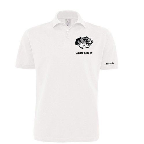Polo 100% cotone White Tiger