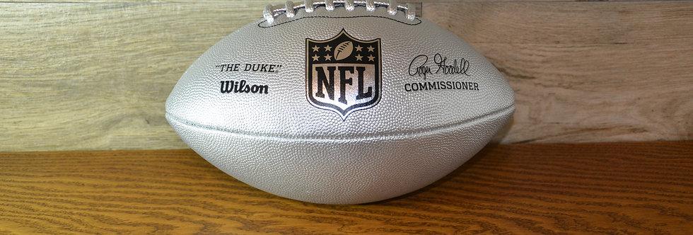 Pallone da football Wilson The Duke Metallic Edition Silver