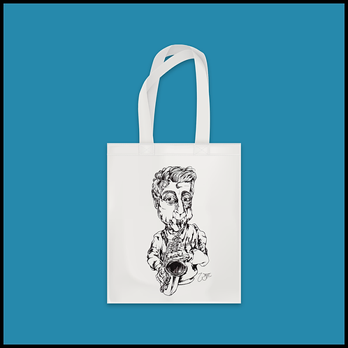 Shopper con caricatura personalizzata