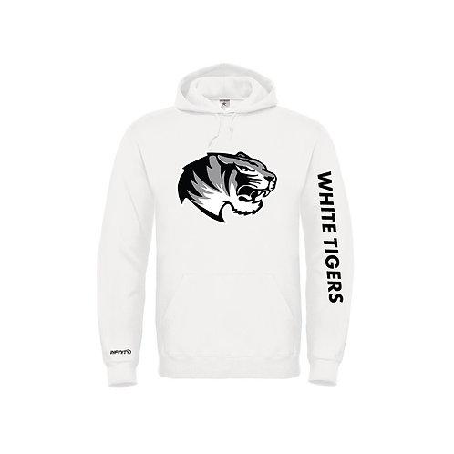 Felpa 100% cotone White Tiger