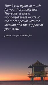 Kurrawa Functions Testimonial_Corporate Breakfast