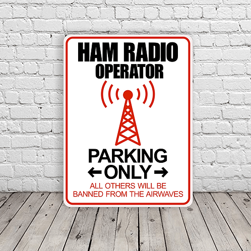 Ham Radio Operator Parking - B