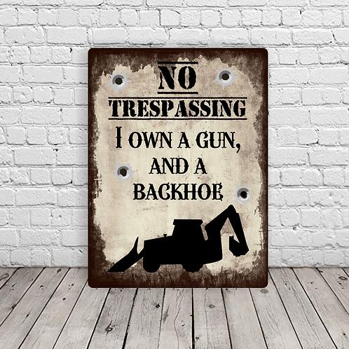 No Trespassing 9x12 Metal Sign