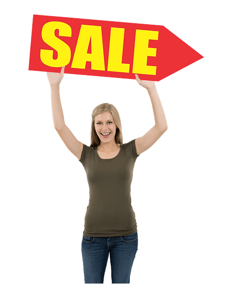 spinner sign, arrow sign, sale advertising sign, spinner advertising sign