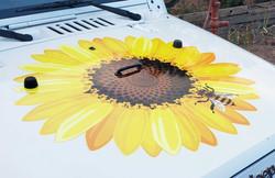 Jeep Sunflower Hood