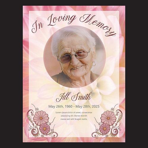 In loving memory w/ pink floral