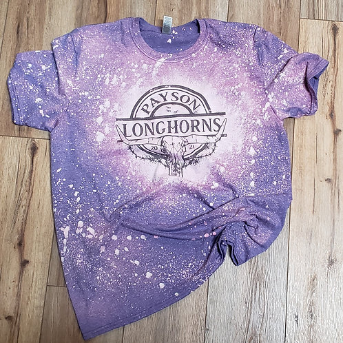 Payson Longhorn Bleach Splatter