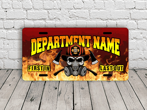 Fire Department License Plate (personalized)