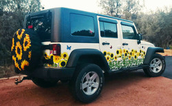 Jeep Sunflower Rear Angle