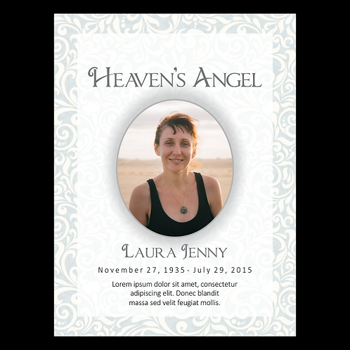 Heaven's Angel Oval Photo