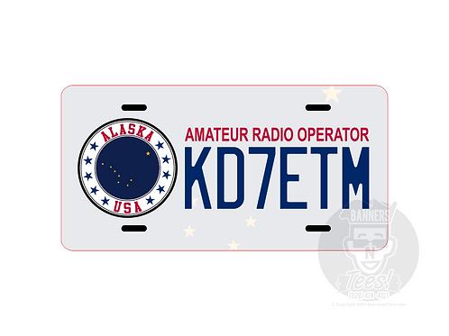 AK-FL State Call Sign License Plate