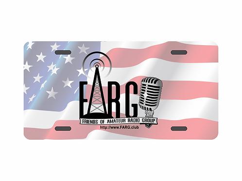 Patriotic FARG Logo License Plate