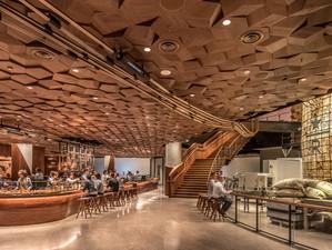Starbucks Reserve Roastery Lights Up Shanghai