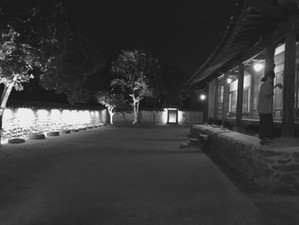 Lighting a Korean folk village..