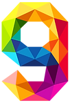 Colourful_Triangles_Number_Nine_PNG_Clip