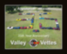 Valley Vettes 35th Year Poster No Menber