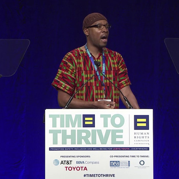 Daniel J. Downer at 2018 LGBTQ Time to Thrive Youth Conference