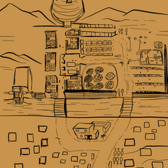 Zam Sketch Map