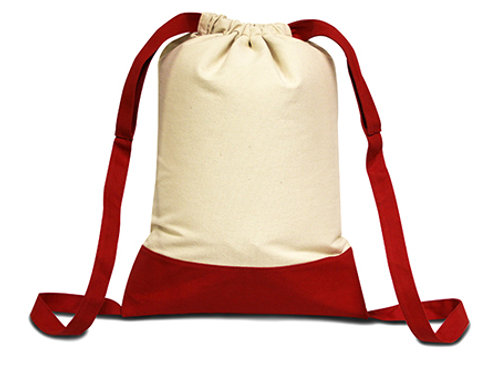 LIBERTY BAGS® CAPE COD COTTON DRAWSTRING BACKPACK