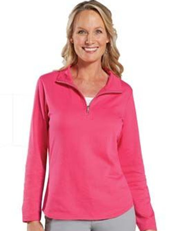LAT LADIES FRENCH TERRY 1/4 ZIP