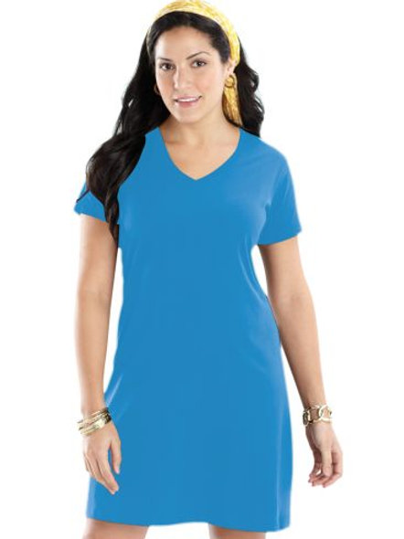 LAT LADIES FINE JERSEY CROSSOVER V-NECK COVERUP