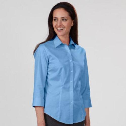 VAN HEUSEN® LADIES DRESS TWILL 3/4 SLEEVE SHIRT