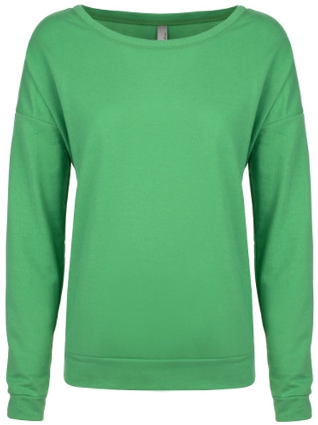 NEXT LEVEL® WOMEN'S FRENCH TERRY L/S SCOOP