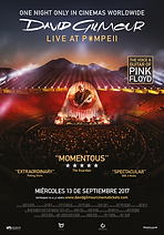 David Gilmour  Poster Live At The Pompeii    