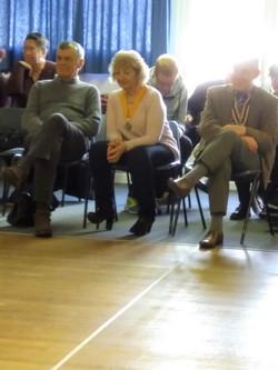 Rotary Club Officials watching Boccia