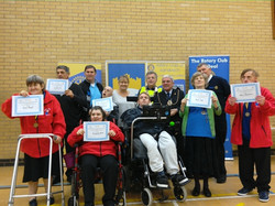 Herne Bay Roselands with medals and certificates