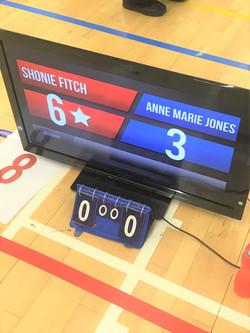 Shonie's winning scoreboard in National Finals 2018
