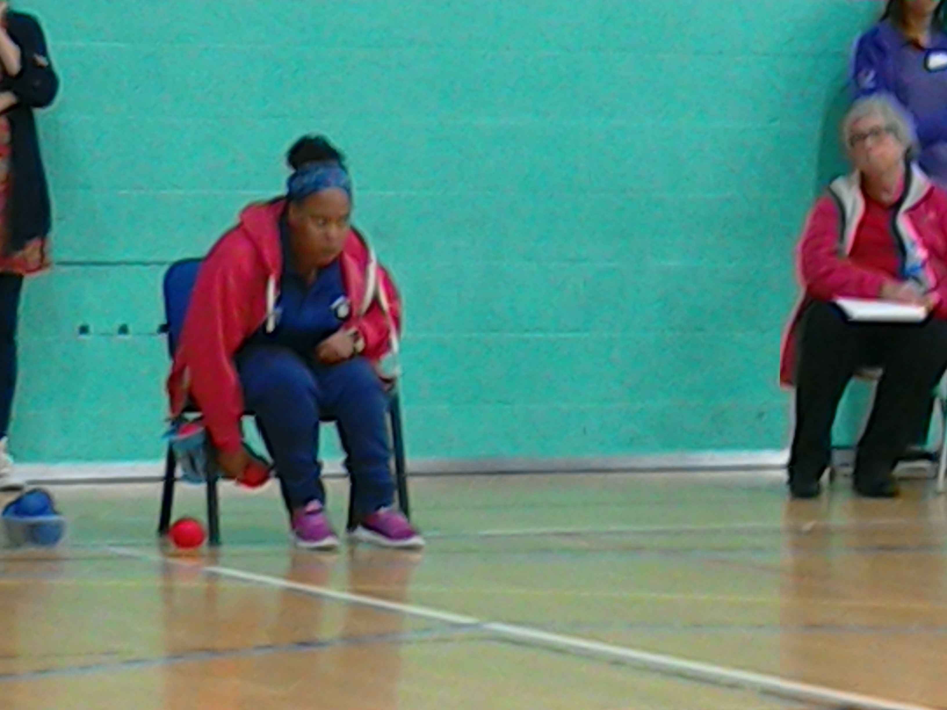 Tamika throwing at Kent Singles Comp Sept'17
