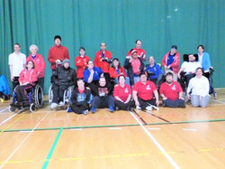 20 Boccia players competing in Kent Singles competition at Gillingham 27 Nov'16