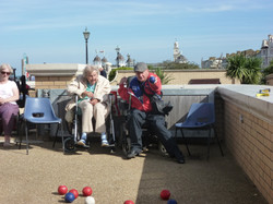 97 years old playing at National Boccia Day