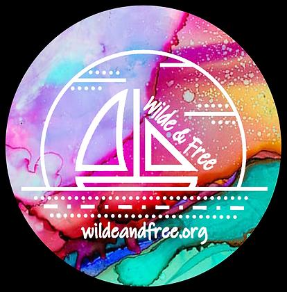 """Multi Water Color 5"""" Sticker"""