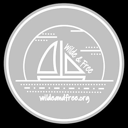 "Transparent White 5"" Sticker"