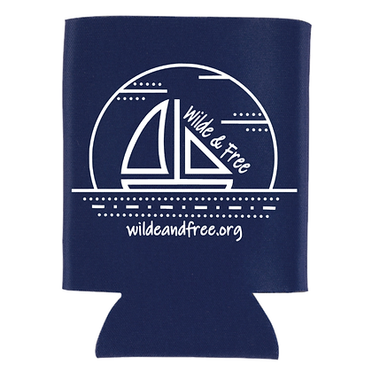Navy Blue Collapsible Can Koozie