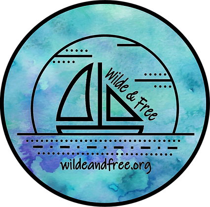 """Blue Water Color 5"""" Sticker"""