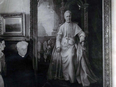 Fr. Gerrer and the Portrait of Pope Pius X, 1904