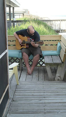 my mom took this picture of me practicing on vacation at Topsail Island. she loved to watch me play
