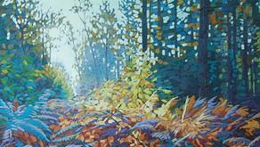 "Parson`s Grove No4 - Oil on canvas 24"" x 24"""