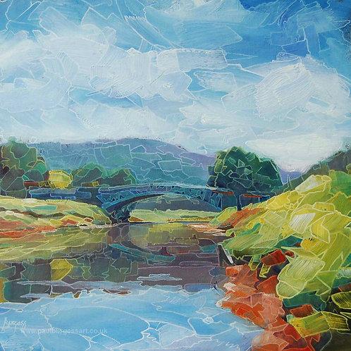 "Bridge Over The River Wye  9"" x 9"""
