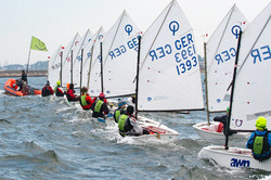 Regattatraining in Warnemünde
