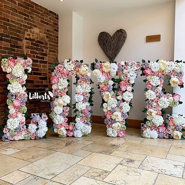 Our Floral LOVE Letters all set up and j