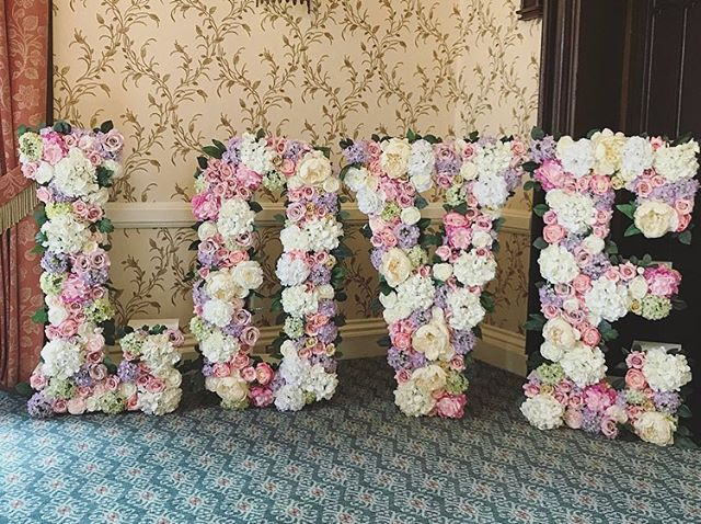 Our Floral LOVE Letters all set up yeste