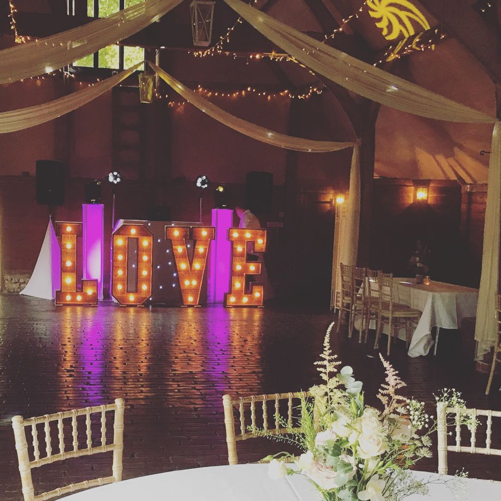 Rustic Wooden Light Up LOVE Letters