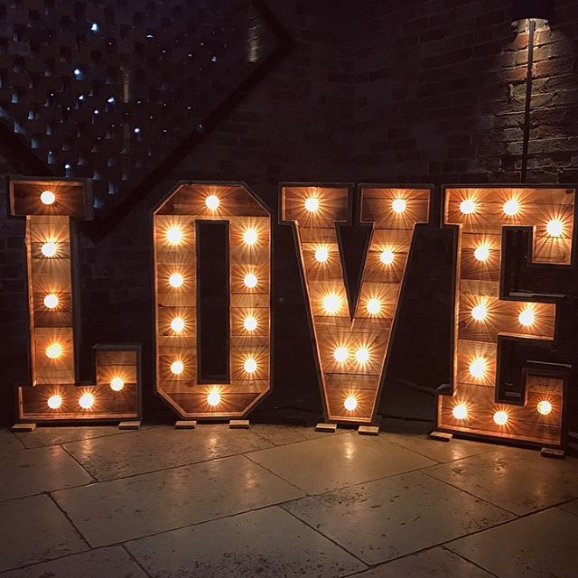 Our Rustic LOVE Letters all set up at th