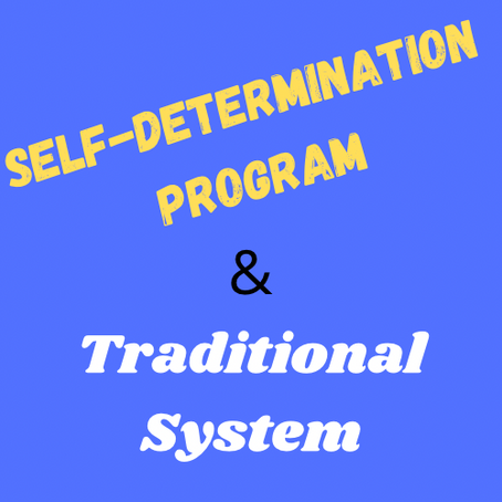 The Self-Determination Program & the Traditional System: Part 1