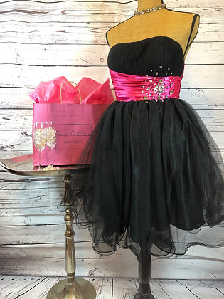 Pink & Black Cocktail Dress