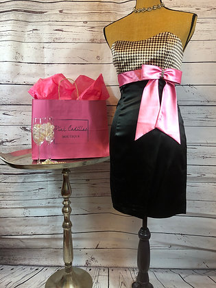 Cocktail Dress with Pink Bow Detail